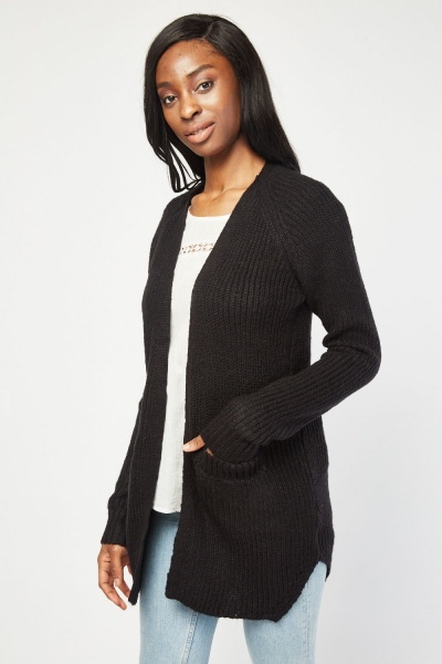 Herringbone Knitted Cardigan