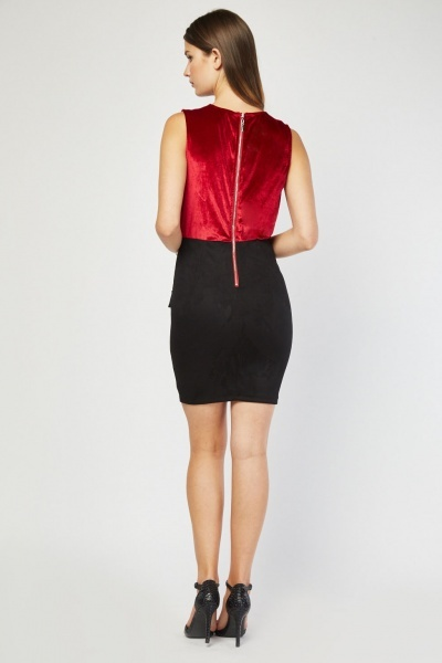 Low Plunge Bodycon Dress