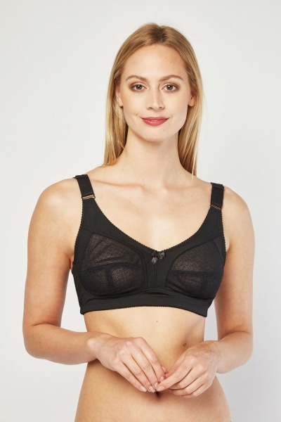 258558844d616 Soft Lace Cup Non Wired Bra - White or Black - Just £5