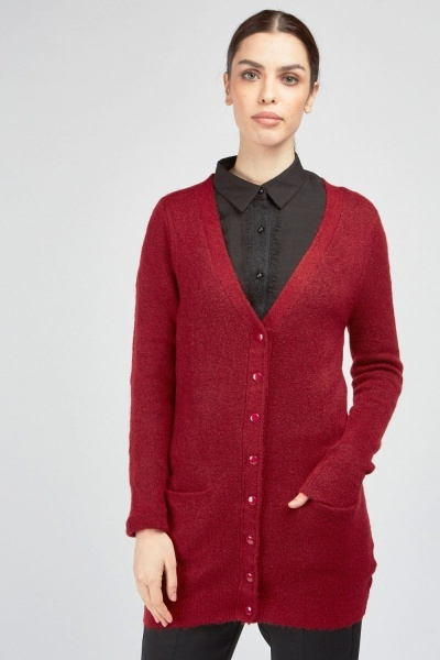 Twin Pocket Front Knitted Cardigan