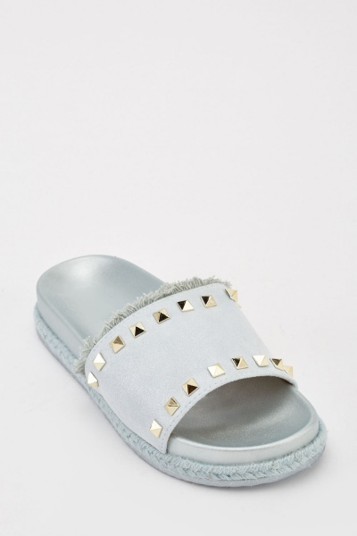 Studded Metallic Sliders
