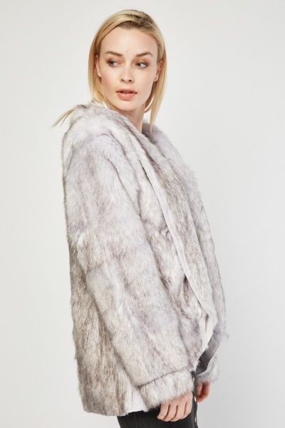 Tonal Faux Fur Jacket