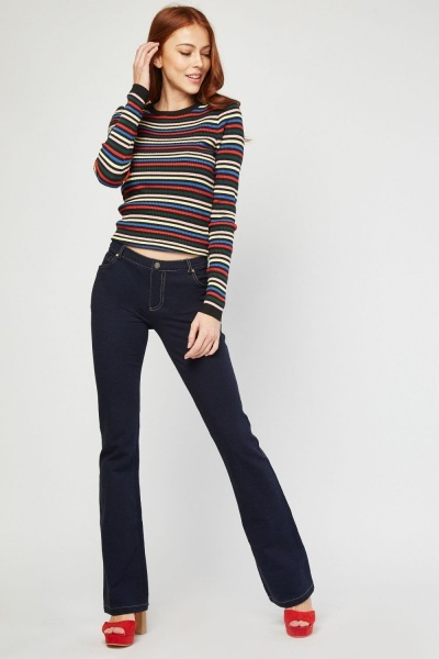 Bootcut Style Navy Jeggings