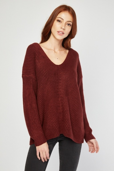 Criss-Cross Back Knit Jumper