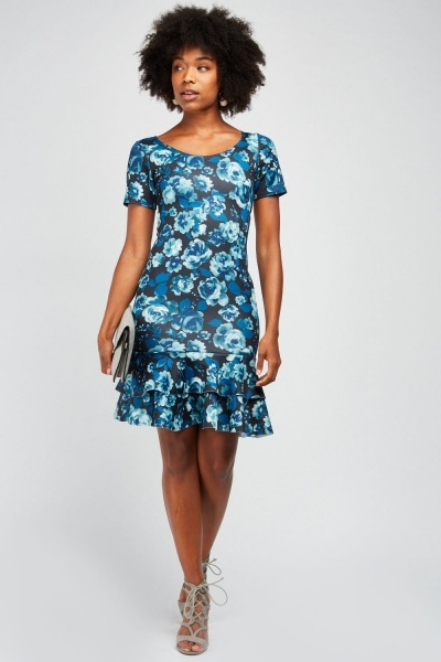 Ruffle Tiered Floral Dress