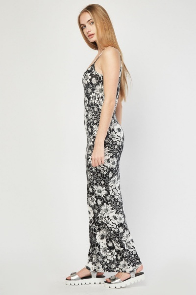 Flower Print Slip Maxi Dress