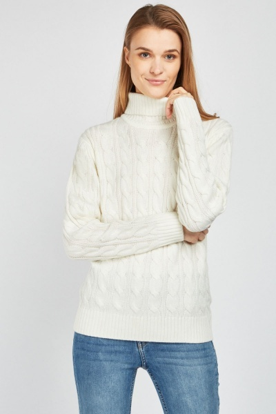 Plaited Knitted Jumper