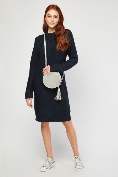 Shimmery Knitted Jumper Dress