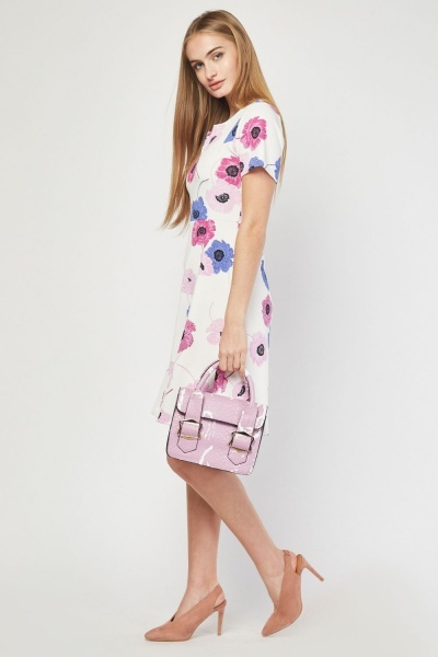 Short Sleeve Floral Skater Dress
