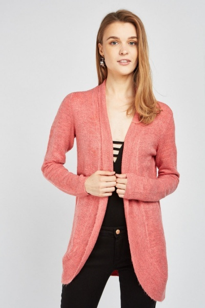 Speckled Textured Knit Cardigan