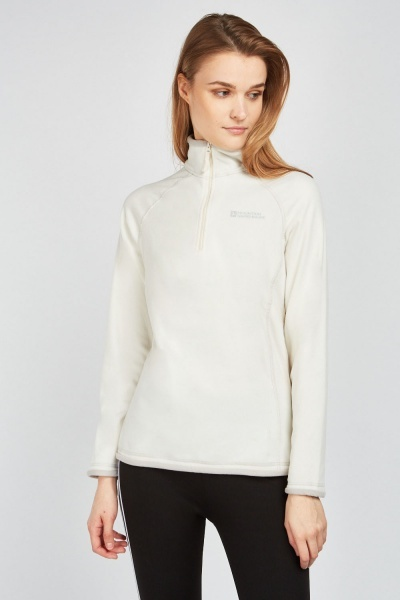 Stitched Trim Poly Fleece Jumper