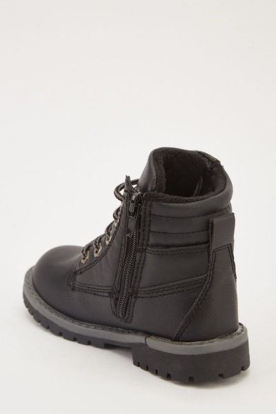 Kids Lace Up Boots