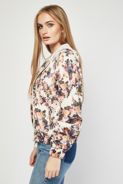 Flower Hooded Rain Jacket