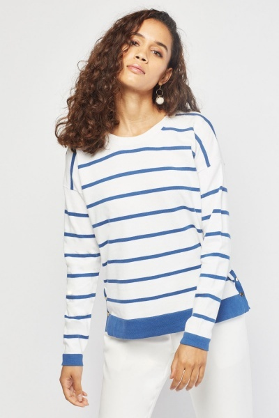 Novelty Stripe Knit Sweater
