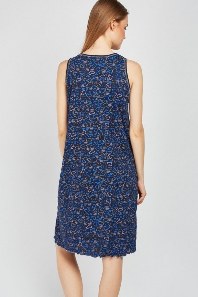 Sleeveless Print Night Dress