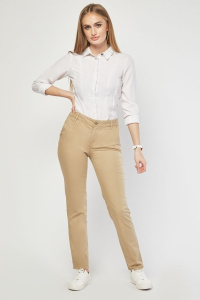Straight Fit Chino Trousers