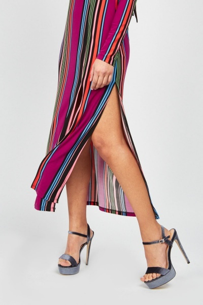 Candy Striped Midi Dress
