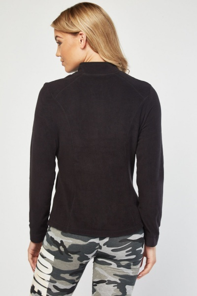 Zip Up Poly-Fleeced Jumper