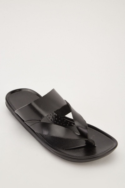 78276431607dee Men s Gladiator Flip-Flops - Black - Just £5