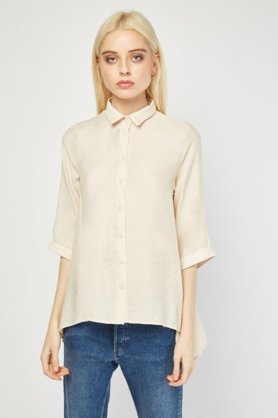 Button Front Flared Shirt