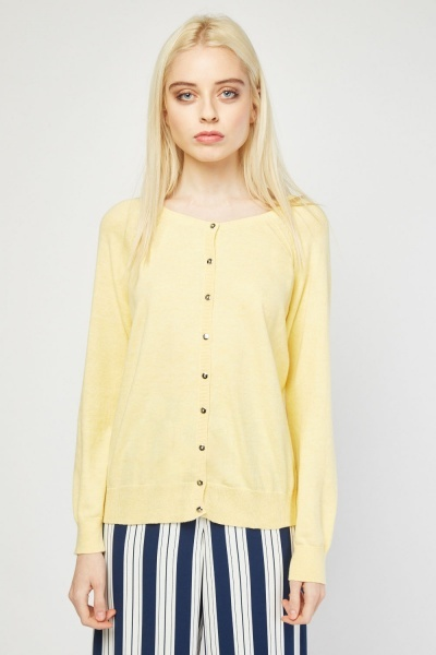 Button Front Knit Cardigan
