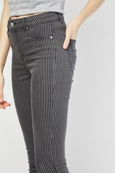 Skinny Pin Striped Jeans