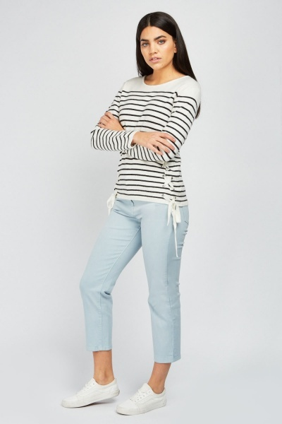 Casual Crop Chino Trousers