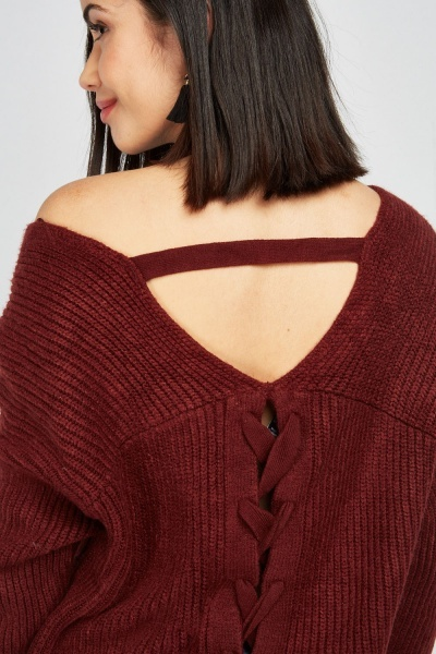 Chunky Criss Cross Back Jumper