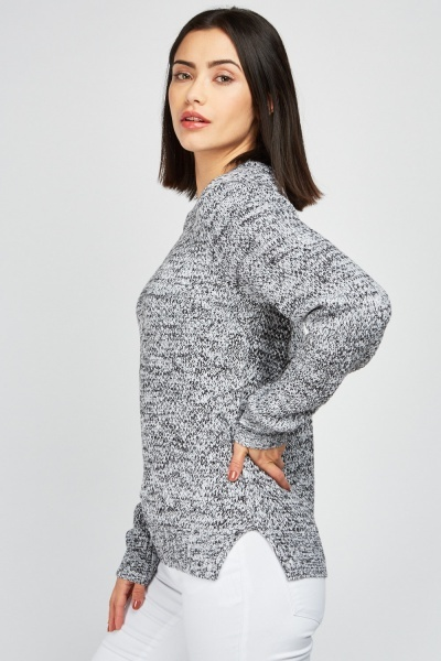 Crew Neck Speckled Jumper