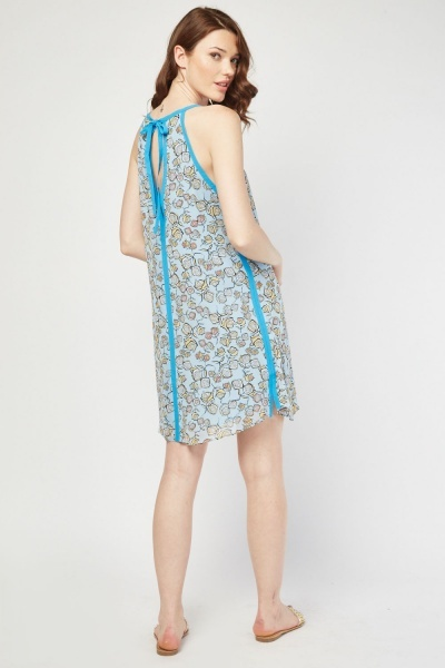 Chiffon Retro Print Tent Dress