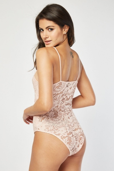 Laser Cut Lace Bodysuit
