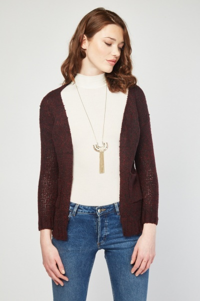 Ope Front Knit Cardigan