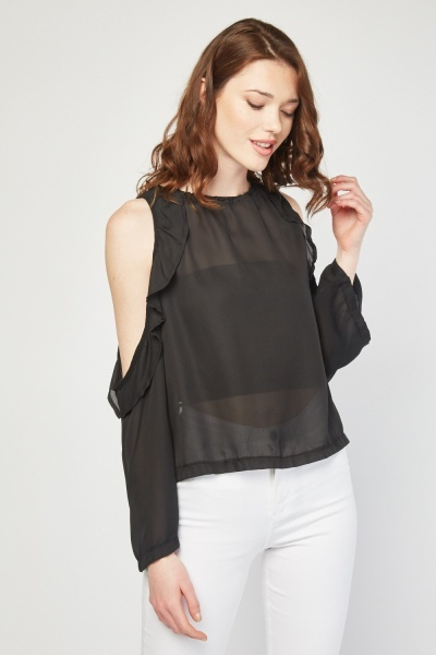 Tie Up Open Back Sheer Top