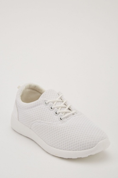 26d7f3114b45 Lace Up Low Top Trainers