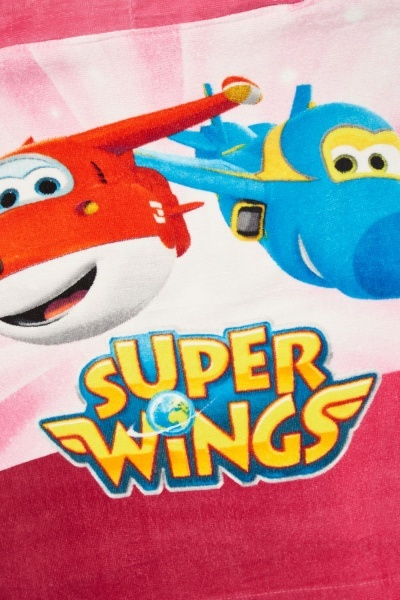 Super Wings Hooded Beach Towel Poncho