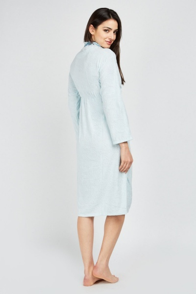 Ruffle Tie Up Dressing Gown