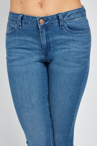 Straight Fit Denim Blue Jeans