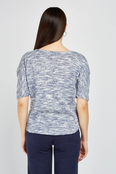 Batwing Sleeve Speckled Knit Top