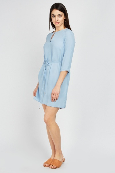 Keyhole Front Shift Dress