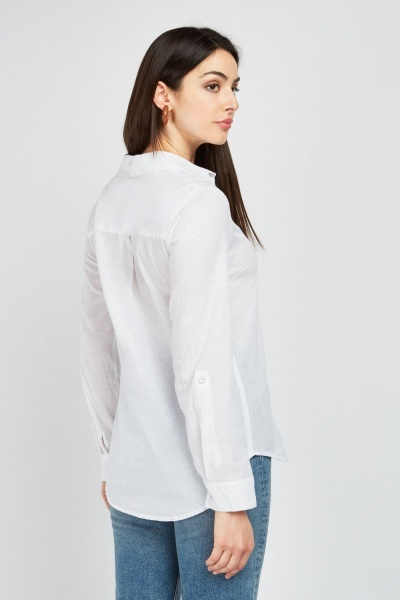 Light Mix Linen White Shirt