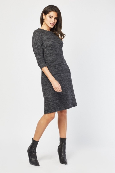 Long Sleeve Soft Speckled Dress
