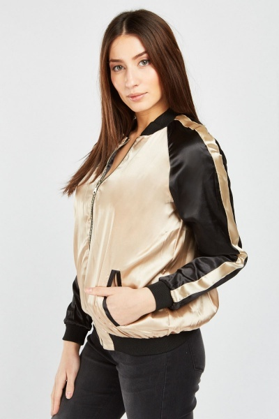 Reversible Embroidered Sateen Jacket