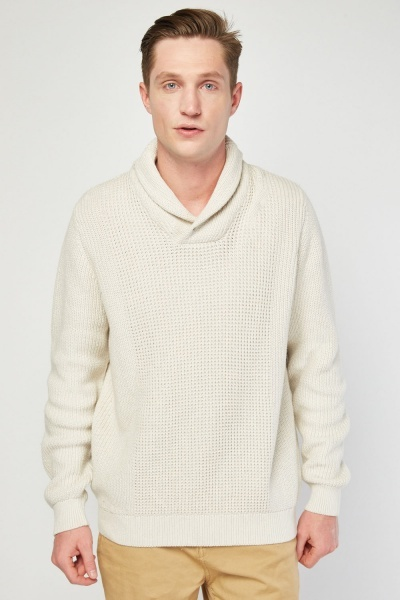 Shawl Collar Chunky Jumper