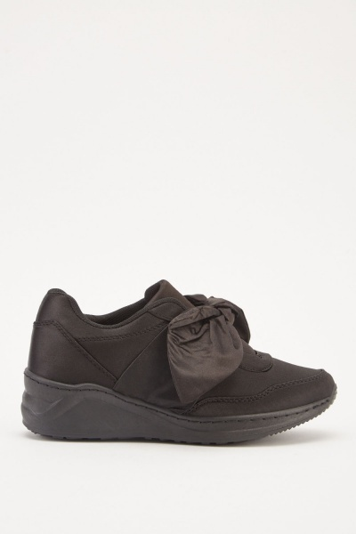 Knotted Sateen Chunky Trainers