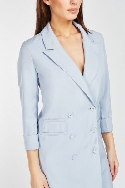 Double Breasted Blazer Coat