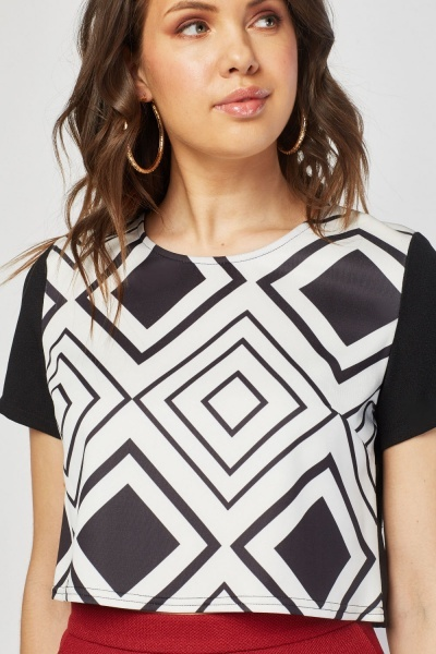 Geometric Print Mini Top