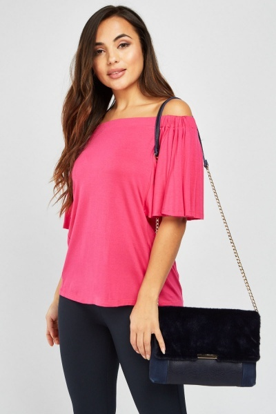 Off Shoulder Flared Sleeve Top