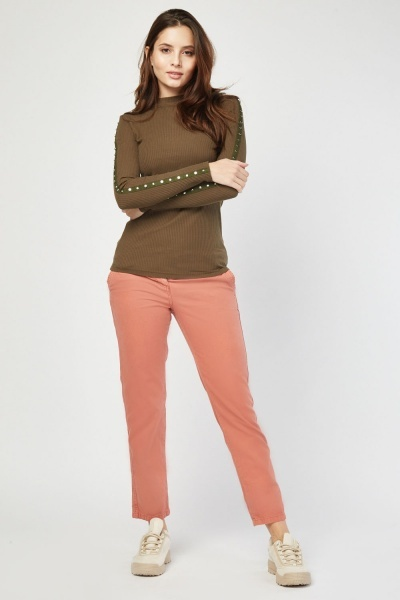 Petite Slim Fit Chino Trousers