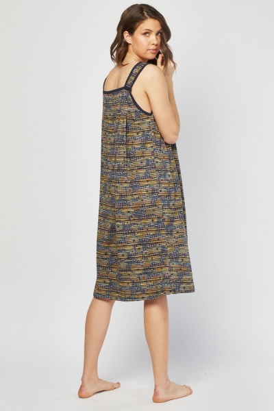 Printed Pocket Front Nightie