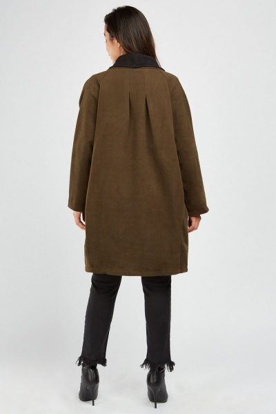 Shawl Collar Fleece Texture Coat